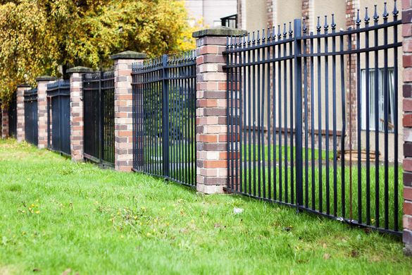 wrought iron residential fence